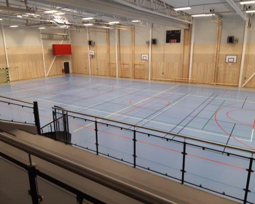 Den nya sporthallen i Moheda