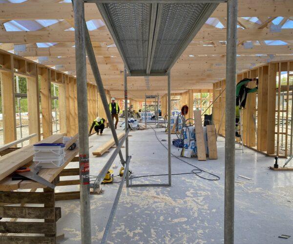 Nybyggnation av hus på Snickarvägen i Grimslöv